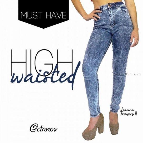 jeans tiro alto octanos invierno 2015