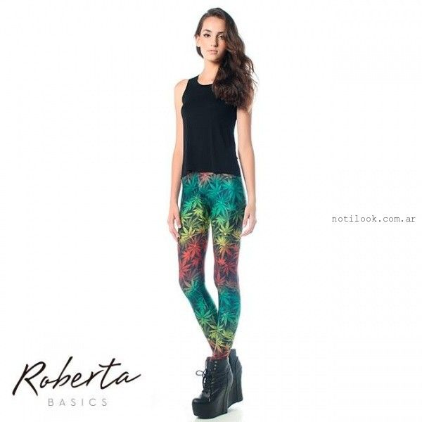 leggins estampadas invierno 2015 Roberta Basics