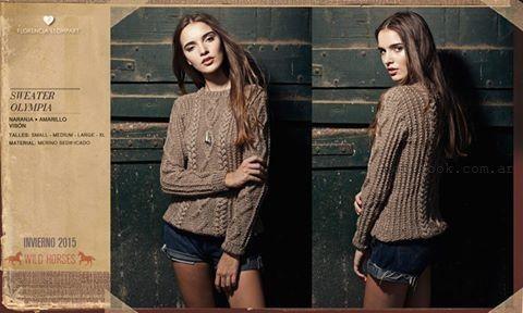 sweater tejidos invierno 2015 Florencia Llompart
