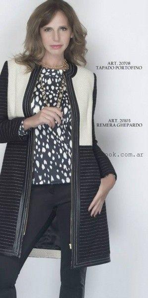 tapado a rayas  - Teresa Calandra invierno 2015