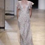 Maxi vestidos estampa fores pequeñas con mangas con volados - tendencia verano 2016