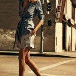 bermuda a rayas formal con chaqueta de seda  tendencias verano 2016