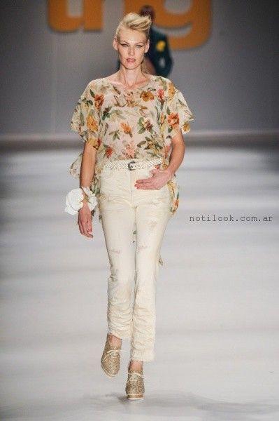 blusa de gasa estampada suelta - tendencia de moda verano 2016