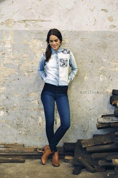 camisa de jeans mistral mujer invierno 2015