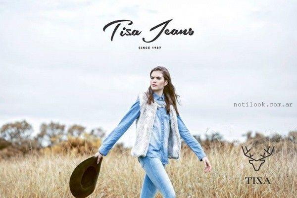 chaleco de piel sintetica invierno 2015 Tiza Jeans