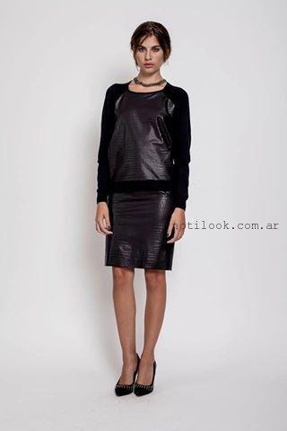 falda engomada invierno 2015 Janet Wise
