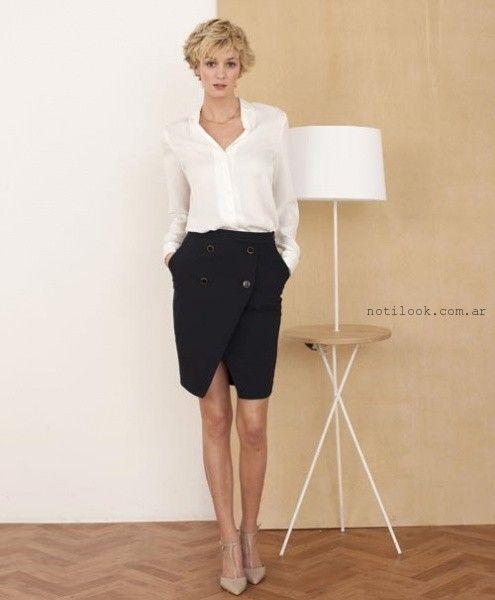 falda pareo formal con botones - tendencia verano 2016