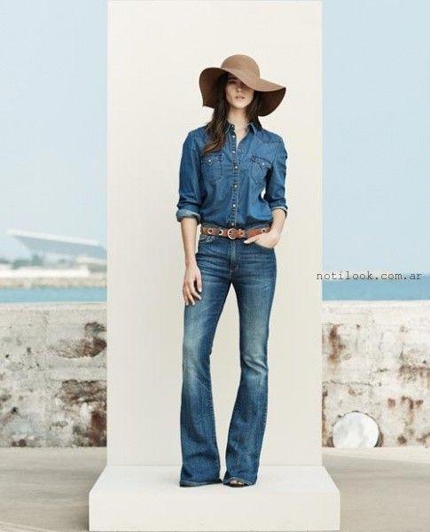 jeans oxfords anchos tendencias verano 2016