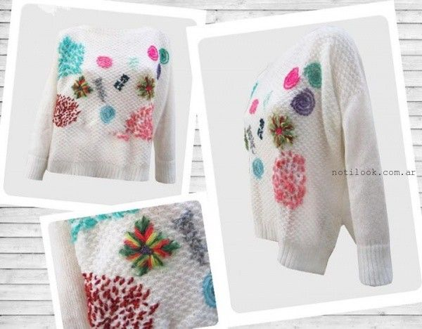 madastore sweater con bordados artesanales