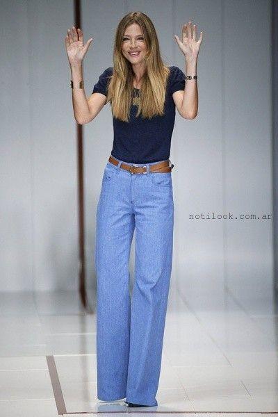 pantalones de jeans tiro alto anchos - tenencias ...
