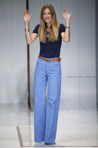 pantalones de jeans tiro alto anchos - tenencias pantalones de jeans