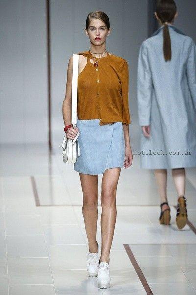 pollera corta de jeans - tendencia verano 2016