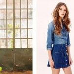 pollera de jean abotonada corta - tendencia verano 2016