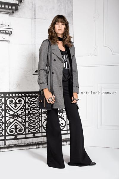 saco gris invierno 2015 Paris by Flor Monis