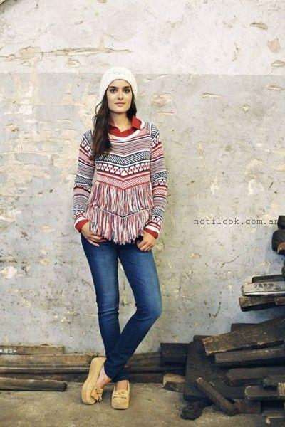 sweter estampado mistral mujer invierno 2015
