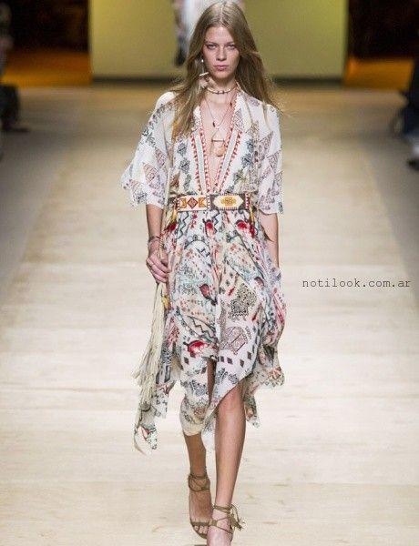 vestido estampa etnica estilo bohemio tendencia verano 2016