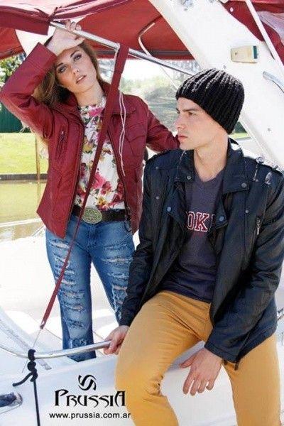 Camperas simil cuero bordo invierno 2015 prussia moda