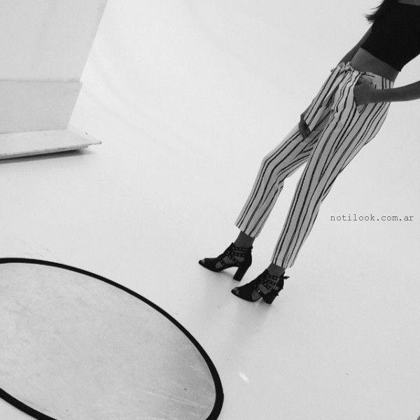 Pantalon a rayas - Coleccion Ossira primavera verano 2016