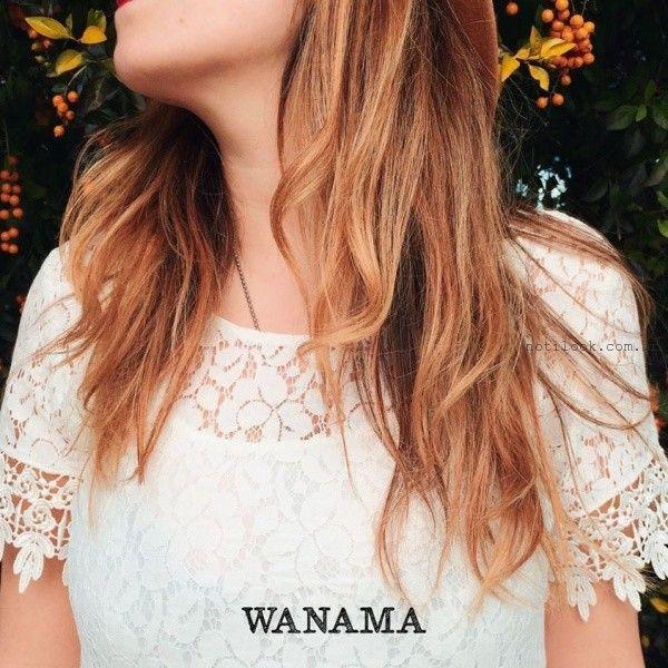 blusa de encaje WANAMA primavera verano 2016