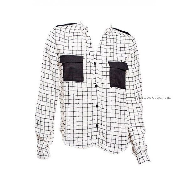 camisas a cuadros mujer Oshum invierno 2015