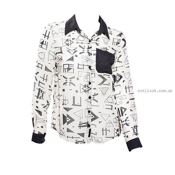 camisas estampadas mujer Oshum invierno 2015