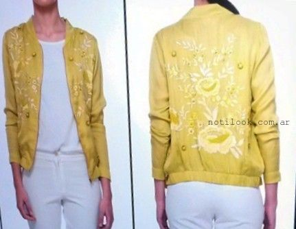 campera amarila bordada Vero Alfie Primavera verano 2016