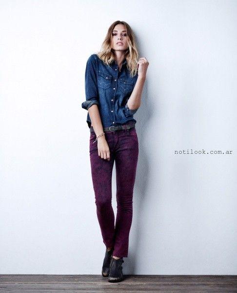 jeans de color invierno 2015 wrangler mujer