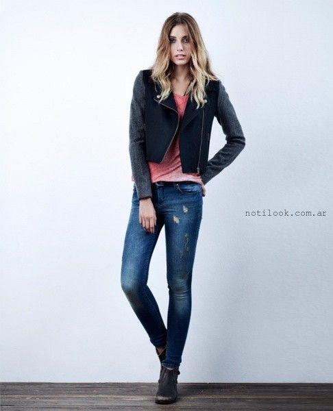 jeans rotos wrangler mujer