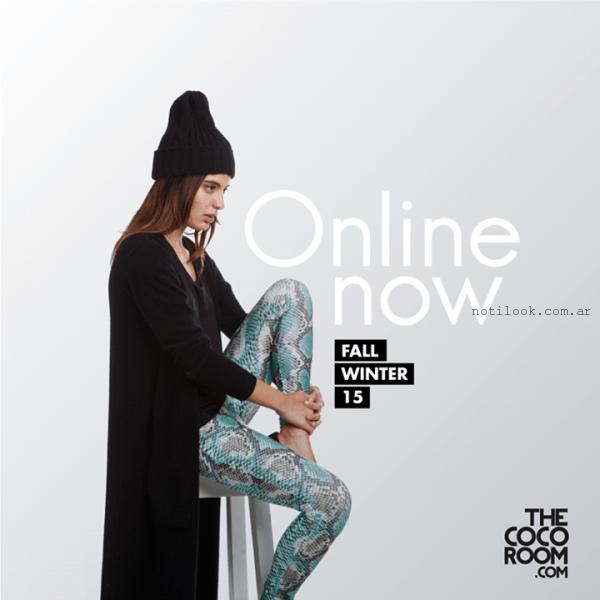 saco largo tejido negro the coco room invierno 2015