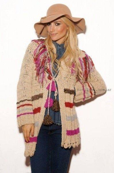 sacos tejidos artesanales oma ropa invierno 2015