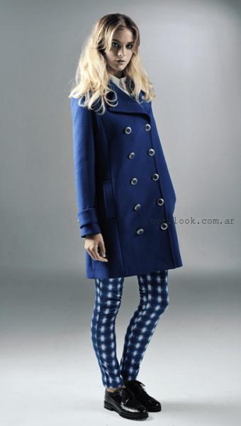 tapado de paño azul invierno 2015 Mancini