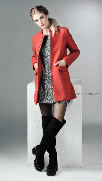 tapado rojo invierno 2015 Mancini
