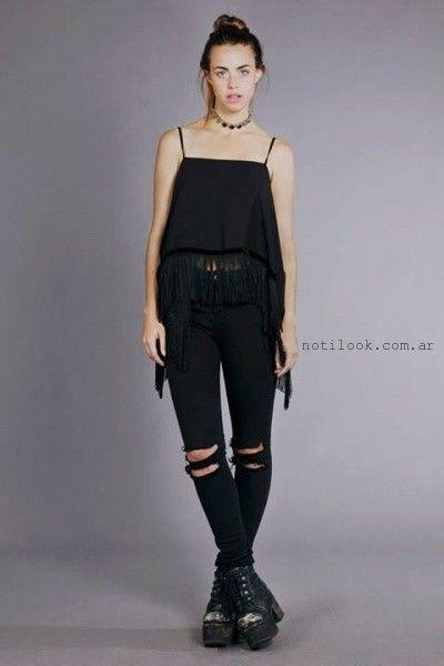 tops sueltos con flecos invierno 2015 Madness Clothing