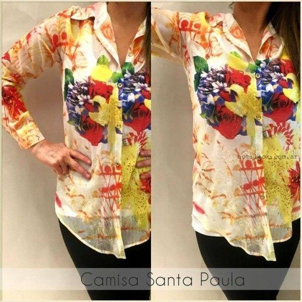 camisas para mujer con estampas verano 2016 monica acher