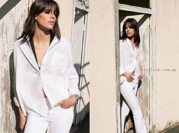 jeans blanco Kosiuko primavera verano 2016