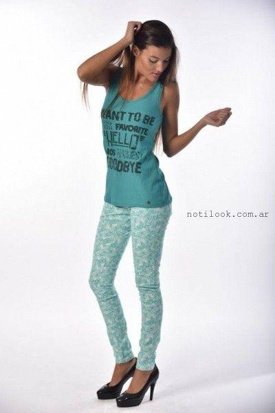jeans estampados primavera verano 2016 Minnakazzira