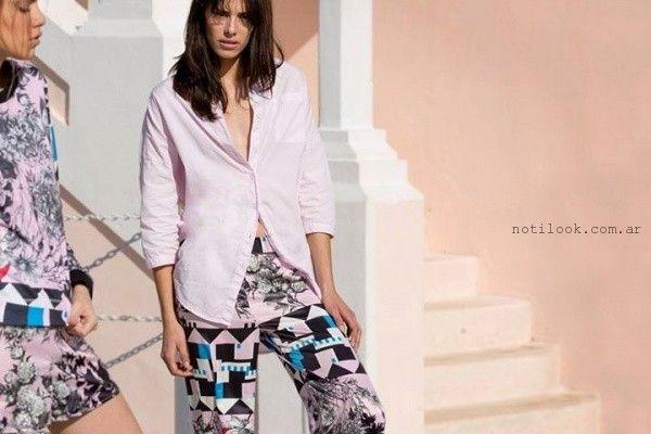 pantalones estampados Kosiuko primavera verano 2016