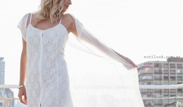 vestido blanco de dia verano 2016 Tramps