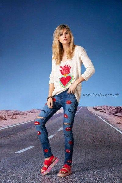 Agustina Saquer - Sweater corazon tejidos verano 2016