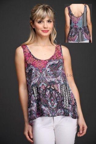 Brandel blusas estampadas primavera verano 2016