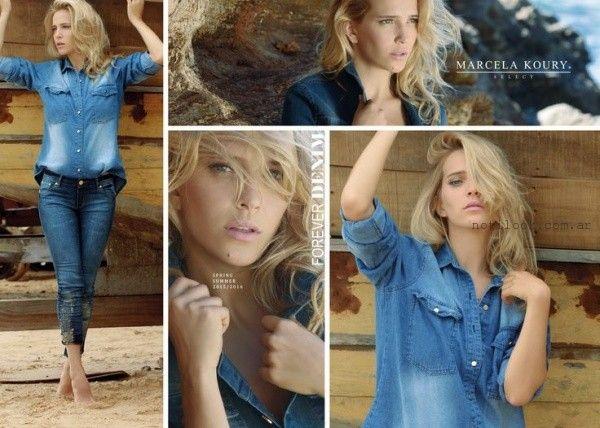 Marcela Koury Select - camisa jeans campera y pantalon verano 2016
