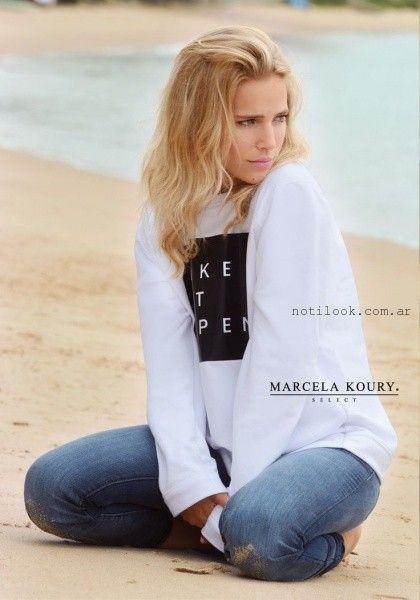 Marcela Koury Select - pantalon jeans verano 2016