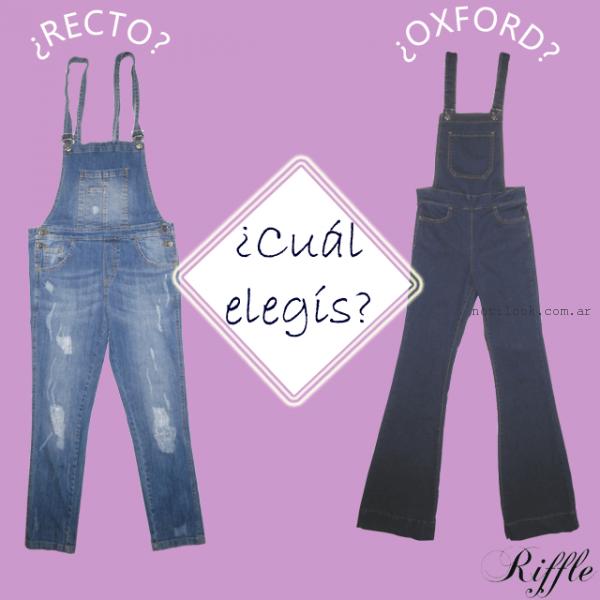 Riffle Jeans - jardinero jeans largo primavera verano 2016