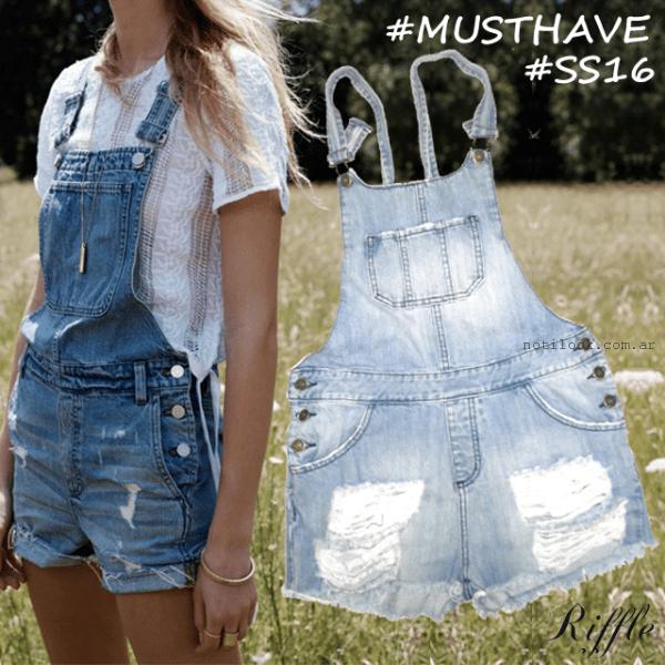 Riffle Jeans - jardinero jeans primavera verano 2016