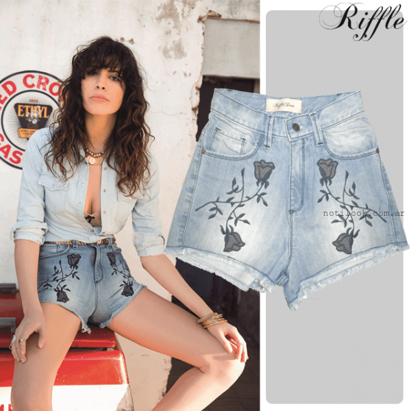 Riffle Jeans - look total denim jean bordado primavera verano 2016