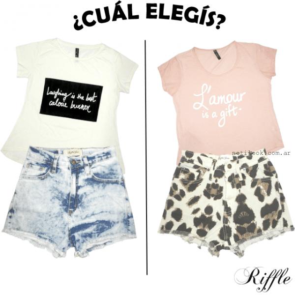 Riffle Jeans - outfits en short jeans primavera verano 2016
