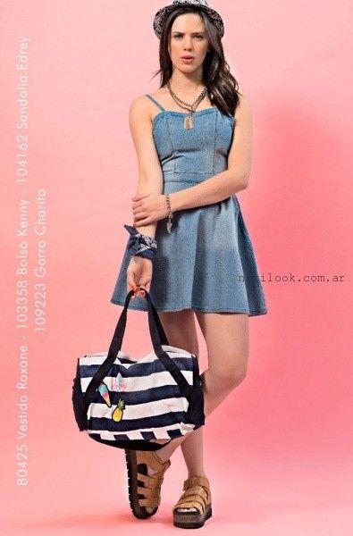 e48770d75 Union Good – vestido Jeans corto verano 2016 – Moda Mujer Argentina