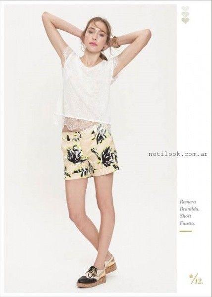 blusa blanca con encaje verano 2016 Asterisco