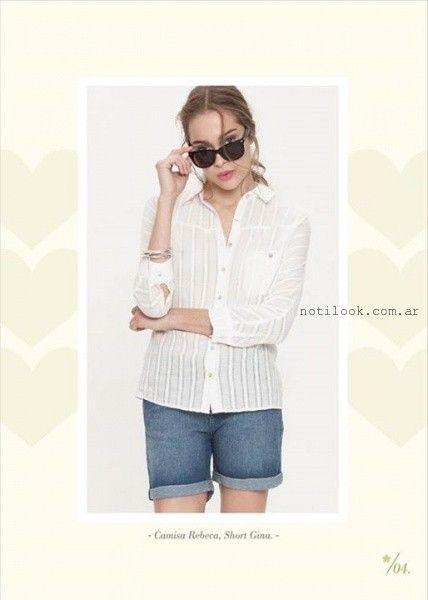 camisa blanca mujer verano 2016 Asterisco
