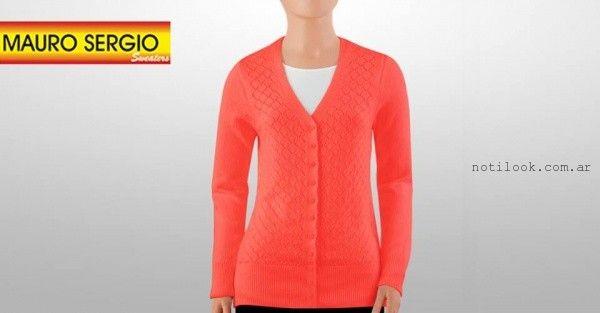 cardigan calado tejido - Mauro Sergio sweater verano 2016